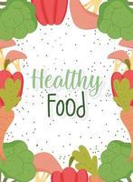 Vorlage für gesundes Essen mit Produktrahmenbanner