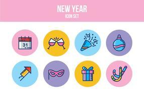 Kostenloses neues Jahr Icon Set