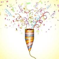 exploderande party popper med konfetti