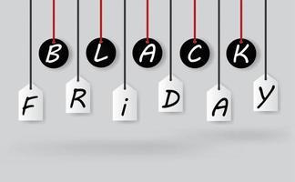 schwarzer Freitag Verkauf Tag Etiketten