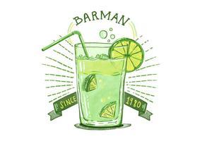 Fri barman Alkoholhaltig bakgrund vektor