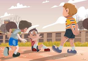 Vector Kid Mobbing beim Spielen