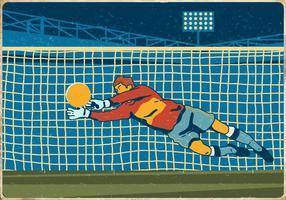 Fotbollsmålvaktare vektor