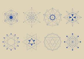 Heilige geometrieformen gesetzt