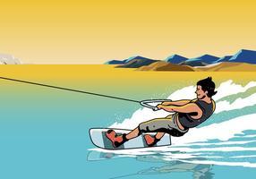 Sportsman wakeboarding vektor