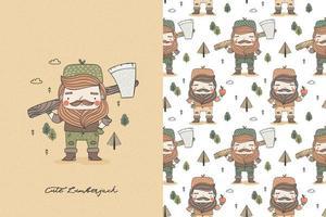 Holzfäller Charakter mit Axt