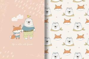 Bär und Fuchs beste Freunde