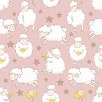 weiße Schafe mit Sternenmuster