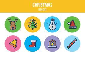 Gratis jul ikonuppsättning vektor