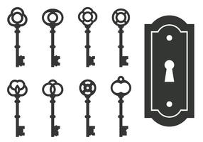 Klassiska Skelett Nyckel vektorer
