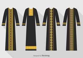 Gratis Vector Svart Abaya Set