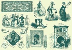 Grüne arabische Illustration