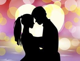 Hochzeitsvorschlag mit Bokeh Hintergrund vektor