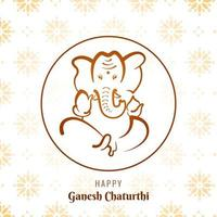 ganesh chaturthi cirkel ram festival kort bakgrund vektor