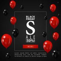 svart fredag försäljning webb banner mall