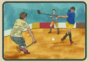 Unihockey-Spieler vektor