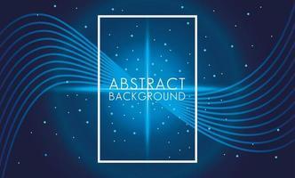 fyrkantig ram i en blå abstrakt bakgrund