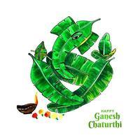 glad ganesh chaturthi för indisk festival vektor