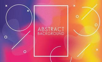 lebendige Farben und Flüssigkeiten, mit quadratischem Rahmen abstrakten Hintergrund