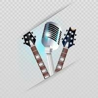 Gitarren und Mikrofon