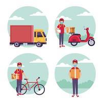 uppsättning leveransservice