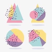 geometrische bunte Formen mit Textur-Sammlung vektor