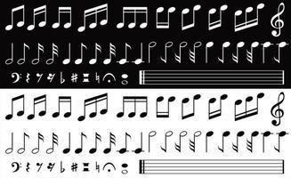 Sammlung von Noten vektor