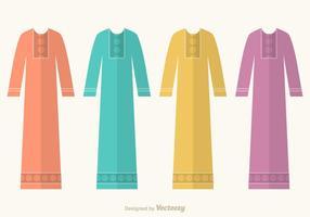 Kostenlose Abaya Vektor Set