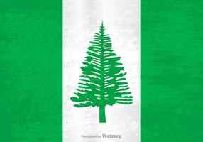 Gratis Vektor Grunge Flagga Norfolk Island