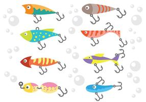 Free Fishing Lure Icons Vektor