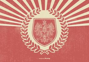 Retro Style Polnische Eagle Illustration vektor