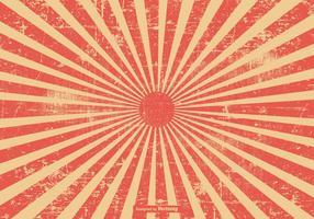 Röd grunge stil sunburst bakgrund