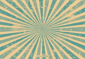 Blå Grunge Style Sunburst Bakgrund