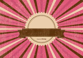 Färgglada Retro Sunburst Bakgrund