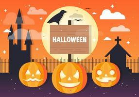 Kostenlose Halloween Jackolantern Vektor Hintergrund