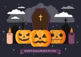 Gratis Spöklik Halloween Vektorillustration
