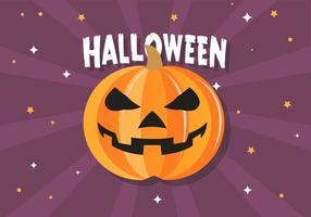 Freier lustiger Halloween-Kürbis-Vektor vektor
