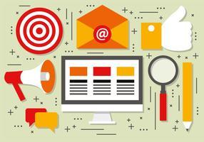 Social media marknadsföring vektor illustration