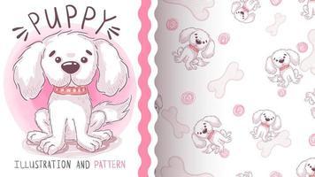 valp hund sömlösa mönster