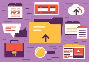 E-Storage Design Vektor Elemente