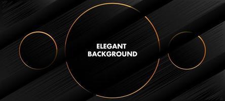 elegant svart och gyllene linje bakgrund vektor