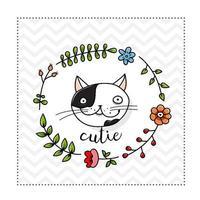 niedliche Katzenkartenschablone