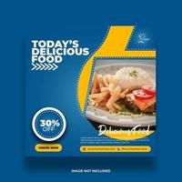 kreative minimale abstrakte Lebensmittel Banner für Social Media Post