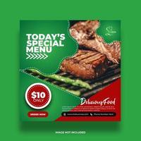 buntes Minimal Special Food Social Media Banner