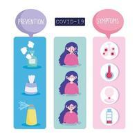 coronavirus infographics ikonuppsättning