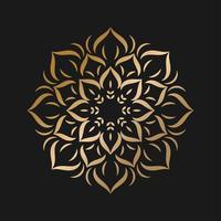 enkel gyllene mandala med blommstil