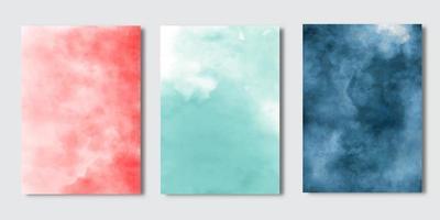 akvarell textur täcka uppsättning vektor