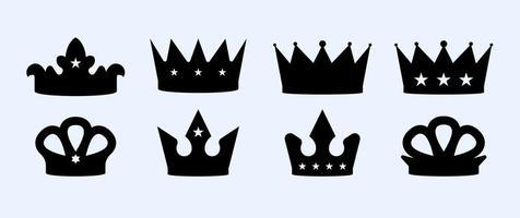Free crown vector set