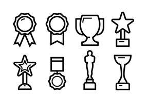 Freie Auszeichnung Icon Set vektor