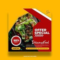 rött och gult specialerbjudande mat sociala medier banner
